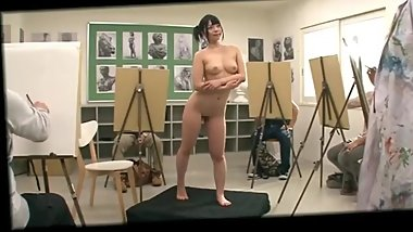 Ai Uehara Model Painter Nude - Drawing Nude Model and Fuck Model
