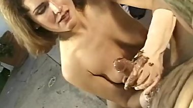 The Secret Handjob For You with Horny Busty Slut