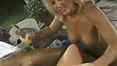 A Cougar Can Jerk Off Two Cock