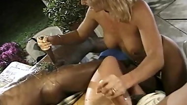A Handjob Session With Eating Cum