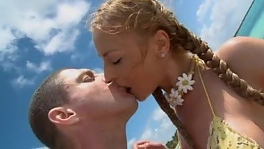 blonde fucked on the beach
